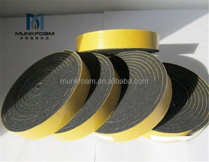 Professional manufacturer CR foam gasket sealing tape neoprene foam sheet with nylon fabric