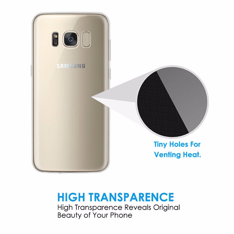 High quality Transparent TPU soft case for samsung S8,S8 edge