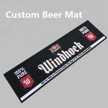 New Design Branded Custom Soft Pvc Rubber Bar Counter Beer Mat