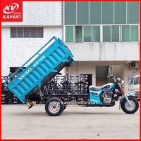 200cc Lifan Air Cooling System Double Rear Wheeler Motor Tricycle Passenger Type With Passenger Back Rest