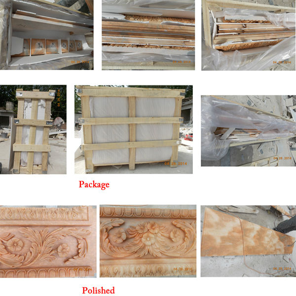 Free Standing Yellow Marble Fireplace,Marble Fireplace Kits Indoor
