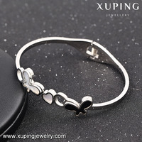 51520 Xuping butterfly bangle cute children design silver color latest design imitation jewellery