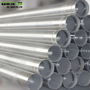 API perforated screen pipe, galvanized screen pipe for deep well drilling