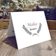 printed 300g gift card/wedding card/birthday card with 2 pieces
