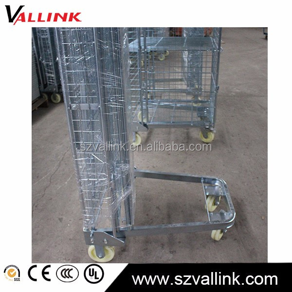 Factory Direct folding logistic 4 sides rolling containers carts
