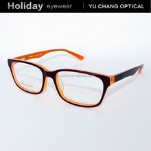 rechargeable led reading glasses simple fashion acetate cheap eyeglasses with black frame