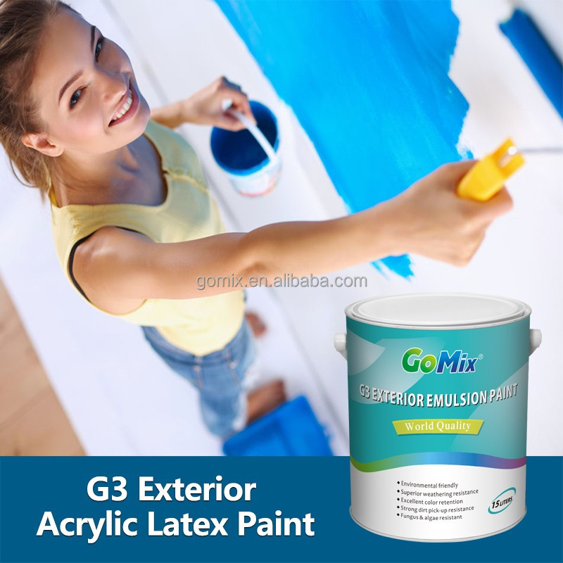Non Cracking Non Color Fading G3 Grey Exterior House Paint