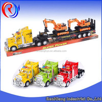 Hot selling! Friction Trailer toy logging trucks