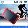 High efficiency fast charging external 8000mah solar power charger