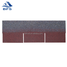 3-tab colored fiberglass asphalt shingles