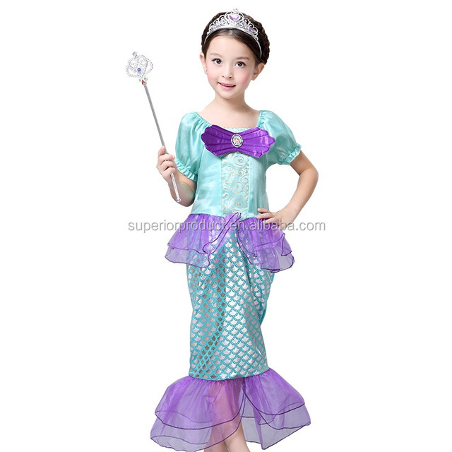 Kids Girl Cosplay CostumeBaby Girl The Little Mermaid Ariel Princess Kids Perform Clothes  sc 1 th 225 & baby little mermaid costume_Yuanwenjun.com