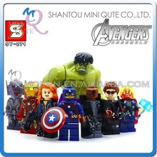 Mini Qute Senye 8pcs/set Marvel Avenger super hero Batman spiderman building block action figures educational toy NO.SY 271