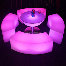 illuminated plastic color changing rechargeable battery led cube illuminated led cube chair