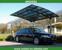 hot sale single beautiful arched roof aluminum canopy carports