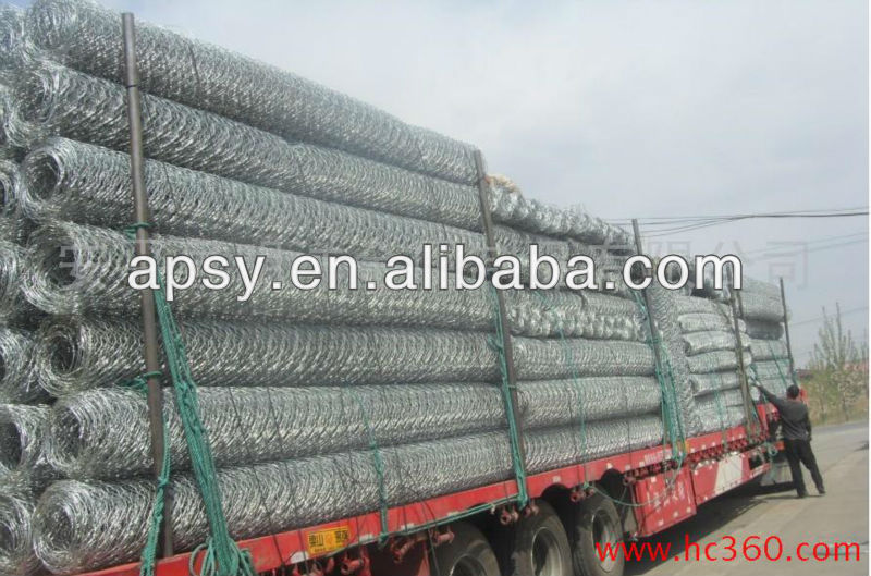 Hexagonal Wire Netting/Gabion box/hexagonal retaining wall wire netting