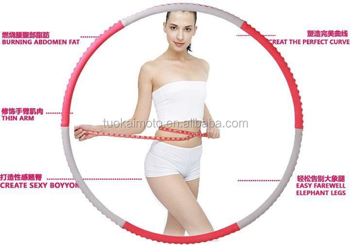 Fashion anti-break Anti-skid hula hoop/Increase weight stainless steel pipe hula hoop/detachable hula hoop