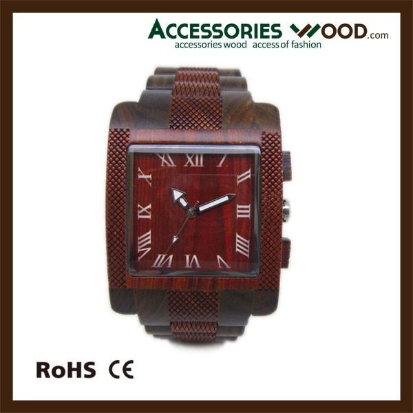 square wood watch man luxurious wrist watches for Christmas