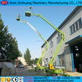 20m aerial articulated boom lift with big radius of operation