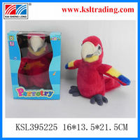 Function doll parrot toys repeat talking plush dolls for kids shantou toy