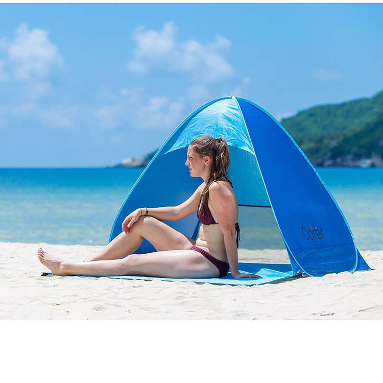 Automatic Pop Up Instant Portable Outdoors Quick Cabana Beach Tent