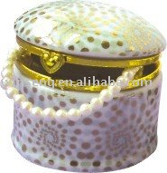 2014 Decorative Customized Jewelry porcelain trinket box