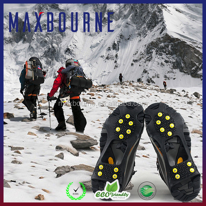 Wholesale Silicone Ice Gripper Silicone Anti Slip Shoes Cover Traction Cleats With 10 Points