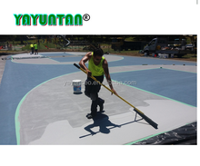 polyurethane sport surfacing system for basketball court flooring