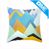 Multicolor Teal Gray Polka Dot square cotton linene cushion cover