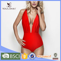 Fancy Fantastic One Piece Mature Red Sexy Japanese Swimwear
