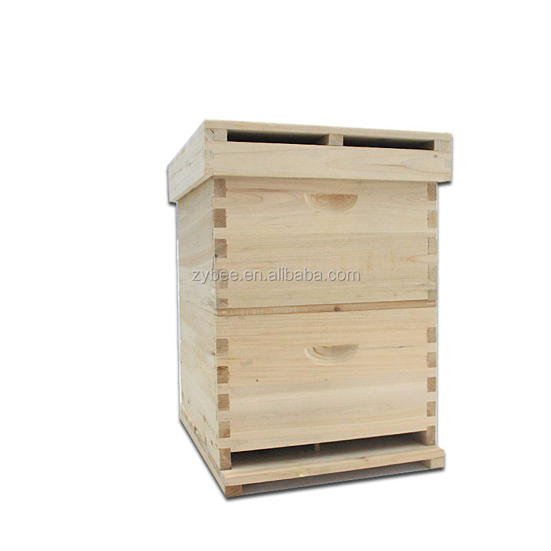 Langstroth hot sale beehive box with wooden beehive made with China fir for custom beehives