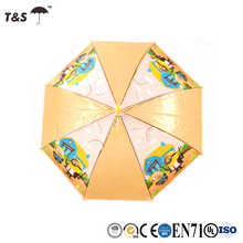 Tianshuo wholesale and custom straight logo printed advertising promotional child umbrella
