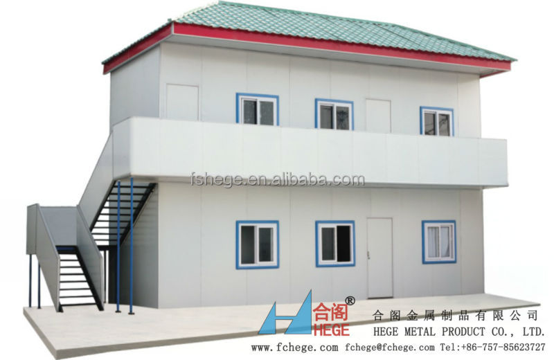 Panel s ndwich casa prefabricada estructura de acero - Casa prefabricada acero ...