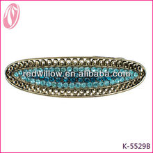 2013 Free Shipping Hair Clip Barrette Clip With Regular Crystal