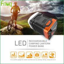 Hot Sale Cheap Price Plastic Material led camping lamp power bank for fishing