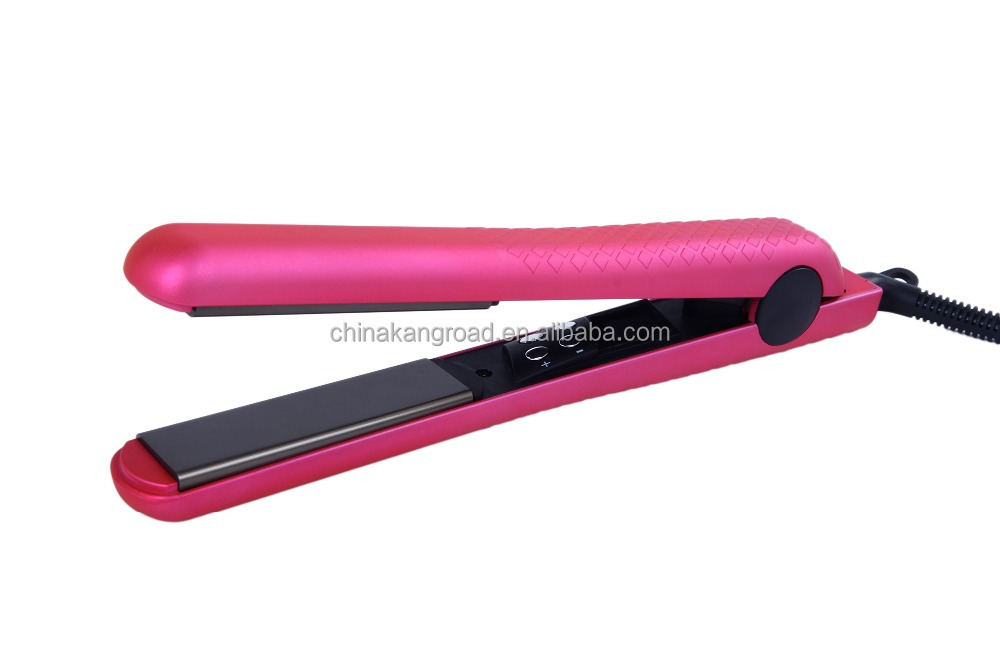 1.25 inch for both home and salon use adjustable LCD flat iron