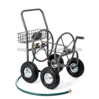 4 Wheel Garden Hose Reel Cart Holds 250 Feet Of 5/8 Inch