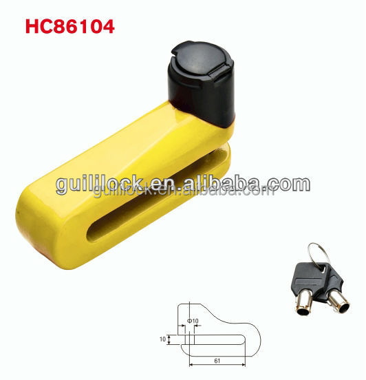 HC86104 hot disc brake lock for motorcycle products with waterproof cover