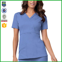 Short Sleeve Medical Clothing Work Uniform Nursing Uniform Wholesale Beautician Uniform