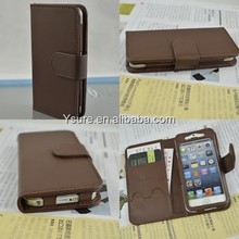 European Style simple design pu leather cell phone case for IPhone5/5s