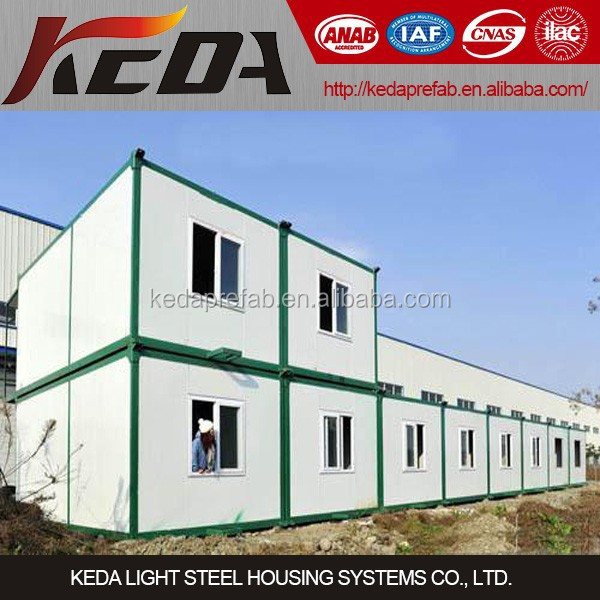 Prefab container house for workers dormitory