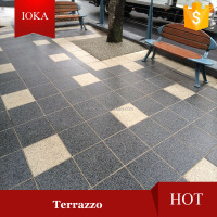 Polish Concrete Paving Tile Artificial Terrazzo Flooring
