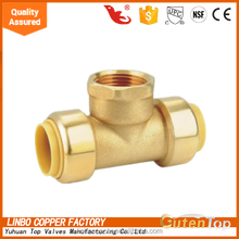 (2C-JE459) LinBo 22mm to 15mm reducing BRASS camlock compression fitting, plumbing, heating