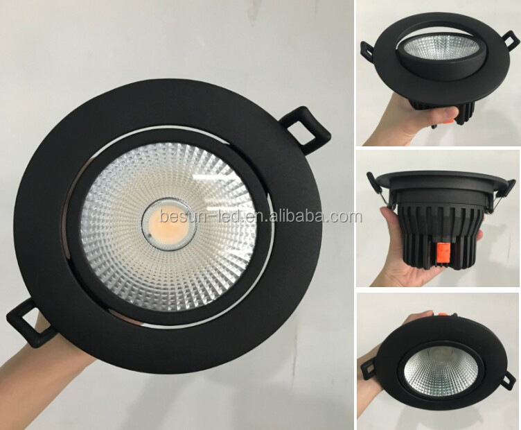 3000k 4000k projector Ra>90 20W White Black led cob light, 6 inch led downlight Wwww Xxx Com Led Downlight