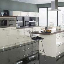 China made high quality customized high-end white kitchen cabinet kitchen design