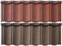 60g Zinc Sand Coated Steel Roof Tiles with Different Color