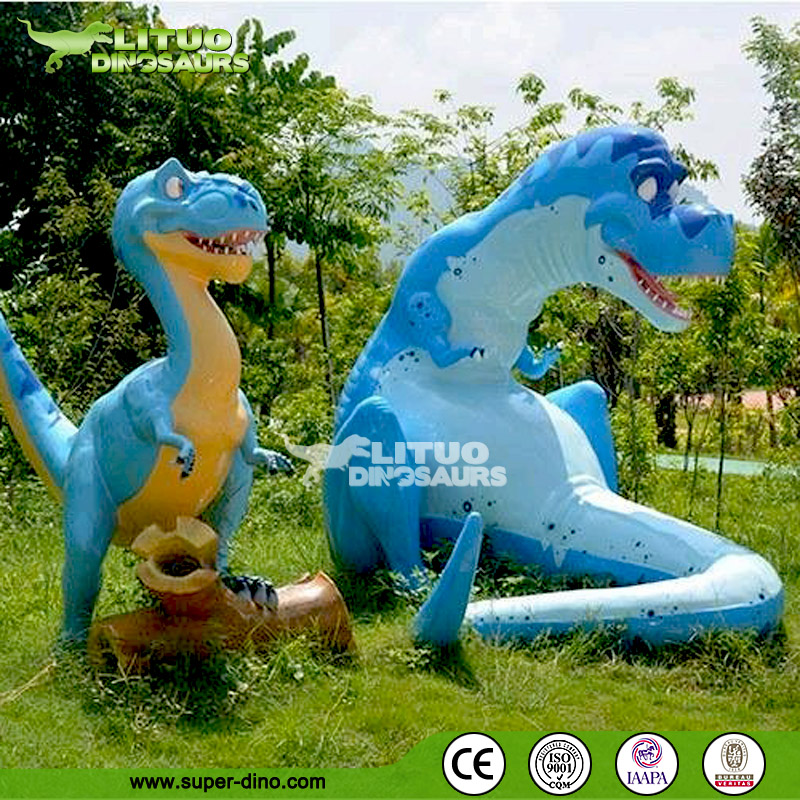 Colorful Cartoon Resin Dinosaur Model