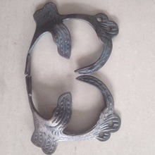wrought iron component cast and forging leaves fitting gate decoration