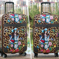 Spinner Wheel Aluminium Trolley Luggage Cute