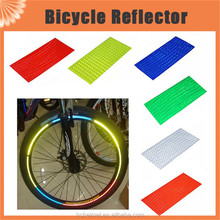 8pcs/pack Stickers Motorcycle Bicycle Reflector Reflective Bike Wheel Stickers Rim Decal Tape Safer