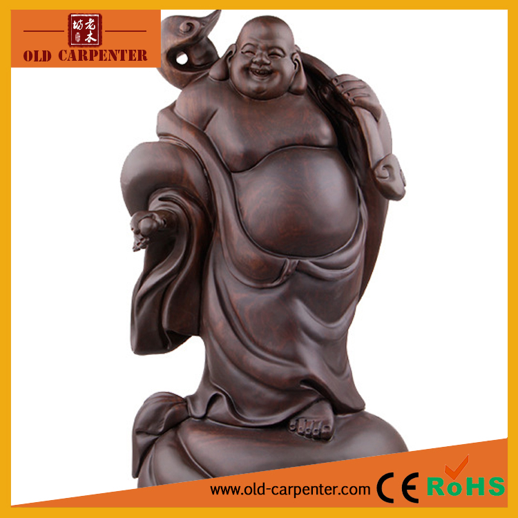 Treasure Buddha 23*18*45cm statue wood modern carving large wood sculpture